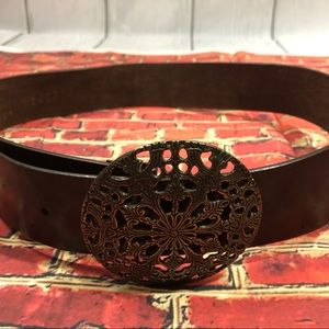 NY & Co size Small Genuine Leather belt w/ buckle